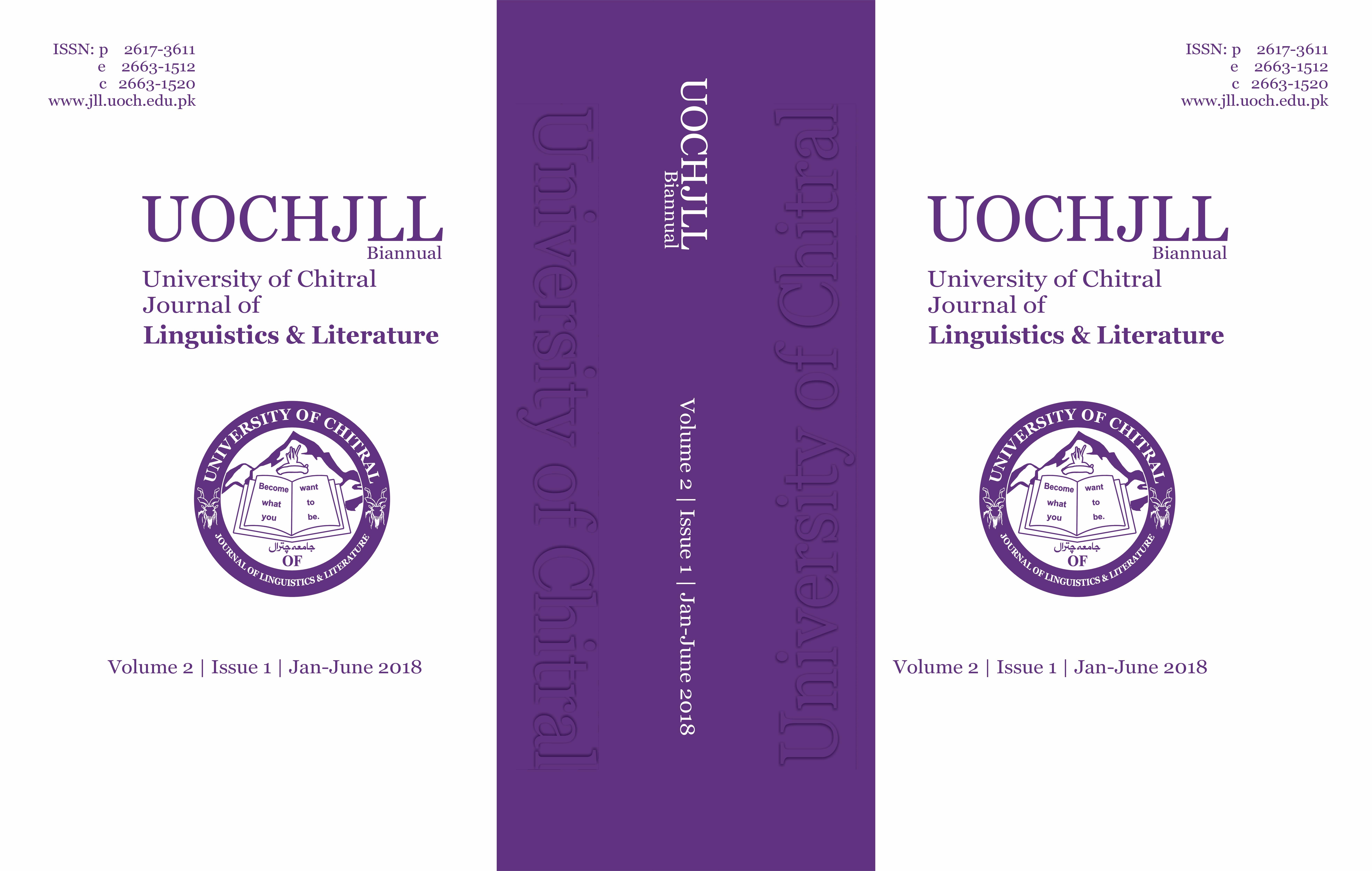 UOCHJLL Volum 2 | Issue I| 2018